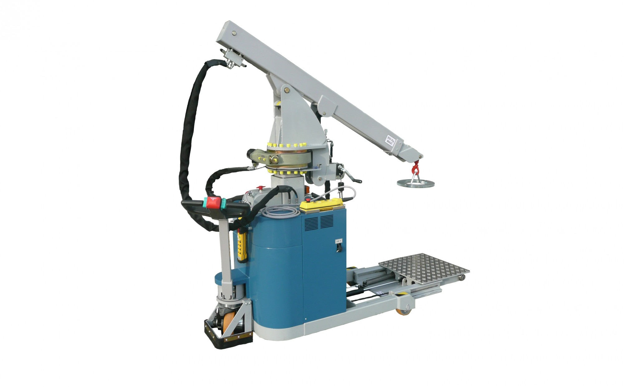 mini crane with sliding platform